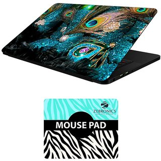 FineArts Combo of Abstract Art - LS5103 Laptop Skin and Mouse Pad