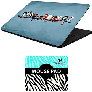 FineArts Combo of Cartoons - LS5490 Laptop Skin and Mouse Pad