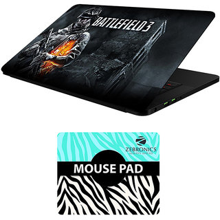 FineArts Combo of Gaming - LS5746 Laptop Skin and Mouse Pad