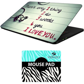 FineArts Combo of Quotes - LS5767 Laptop Skin and Mouse Pad