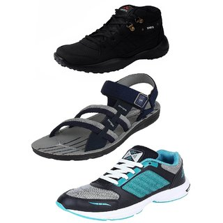 Chevit Men's Multicolor Lace-Up Sneakers (Pack Of 3)