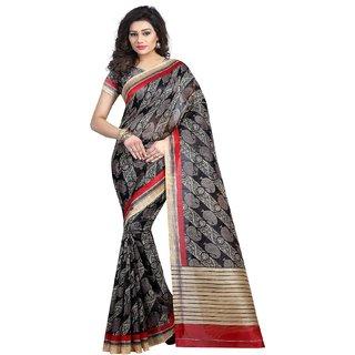 Multicolor Printed  Bhagalpuri Silk Bollywood Style Bhagalpurisilk Saree With Blouse