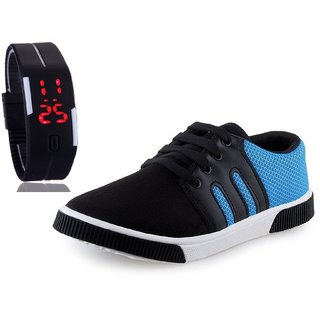 c2571ecd280d Buy Chevit Men s COMBO 347 Casual Sneakers Shoes With LED Watch Bracelet  Adjustable Band - SCRATCH-LESS Display Online   ₹499 from ShopClues