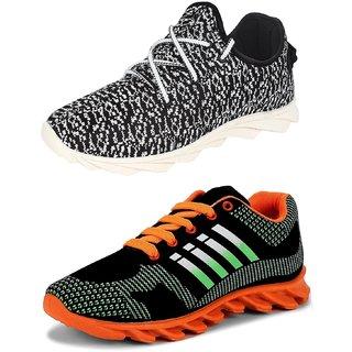 Chevit Men's Multicolor Running Shoes (Pack Of 2)