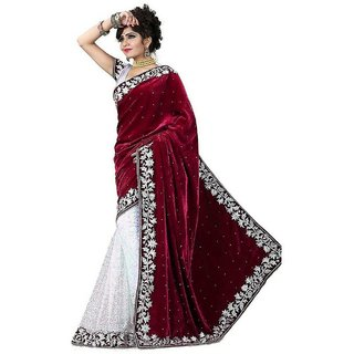 Mastani Jaquard Work Lace Velvet and Brasso saree with Blouse
