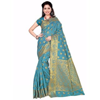 Mastani Jaquard Work Cotton Silk saree with Blouse