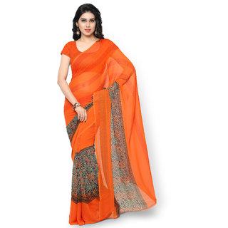 57543a3d680 Buy Indian House Women s Orange Color Chiffon Saree Online   ₹999 ...