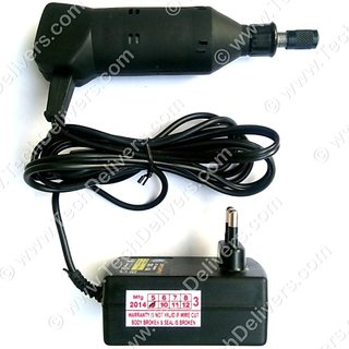 PCB Drill Machine - mini-craft MB120 with Power Supply Description      Drill Model - MB120     Power Supply Ratings - 12V/1A direct plugin to 220V AC     Drill Chuck support - 1mm-2.3mm     Free Steel Collete - 1 piece (Supports upto 0.3 MM to 1.0