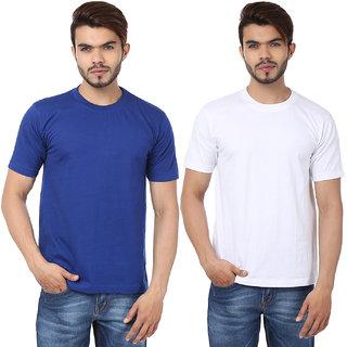 Weardo Men's Multicolor Round Neck T-Shirt (Combo of 2)