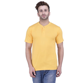 Weardo Men's Yellow Round Neck T-Shirt