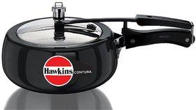 Hawkins Contura Hard Anodized Pressure Cooker, 1.5 Litres