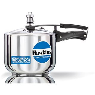 Hawkins Stainless Steel Tall Pressure Cooker 3 Litres