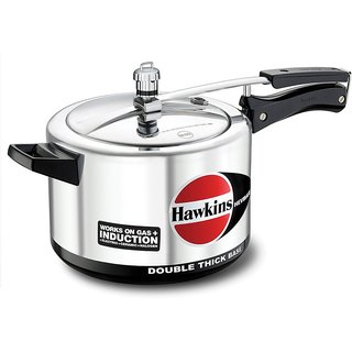Hawkins Hevibase Aluminum Induction Model Pressure Cooker, 3 Litres