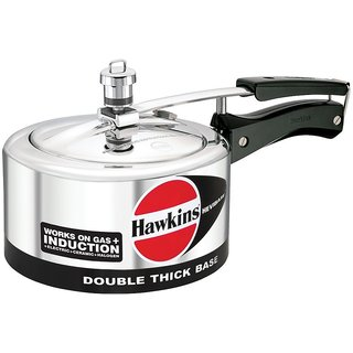 Hawkins Hevibase Aluminum Induction Model Pressure Cooker, 2 Litres