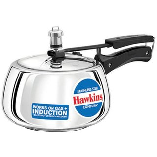 HAWKINS STAINLESS STEEL CONTURA PRESSURE COOKER 3 LITRES