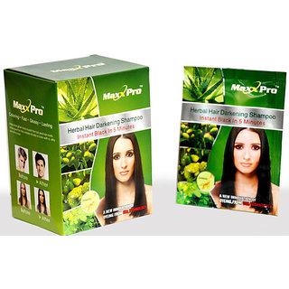 Maxx pro Herbal Hair Darkening Shampoo 10 sachet