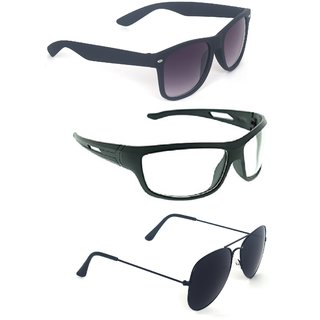 3ebd902ed0eb Buy Fashno Combo Of Multi Color And Style Sunglasses (Pack Of 3) (UV  Protected) (Medium Size) Online - Get 65% Off