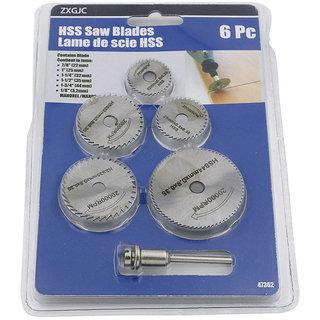 HSS Circular Wood Cutting Saw Blade Discs Mandrel Kit Rotary Comboh