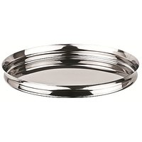 Grish Stainless Steel Italian Plates Size 12 (Thali Set Of 2)
