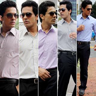 Gwalior Men's Suiting  Shirting Combo 10 Trouser 10 Shirt Fabric