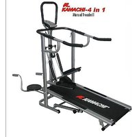 KAMACHI  Branded 4 IN 1 Manual Treadmill JOGGER  TOP QUALITY HEAVY WEIGHT