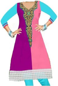 Zoya's 3 colored Long Kurta straight 10K13