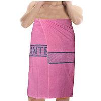 Deal Wala 1 Piece Set Of Russian Cotton Bath Towel - Pink
