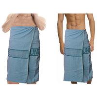 Deal Wala 2  Piece Set Of Russian Cotton Bath Towel - Blue