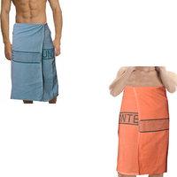Deal Wala 2  Piece Set Of Russian Cotton Bath Towel - B&O