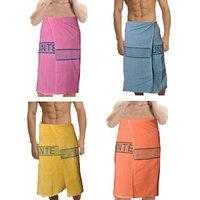 Deal Wala 4 Piece Set Of Russian Cotton Bath Towel