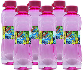G-PET Fridge Water Bottle Lily 1 Ltr. Pink - Set of 6