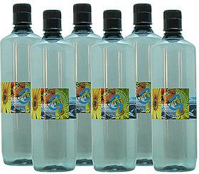 GPET Fridge Water Bottle Mint 1 Ltr Grey  Set of 6