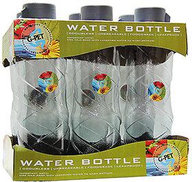GPET Fridge Water Bottle Poppy 1 Ltr Grey  Set of 6