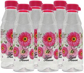 G-PET Fridge Water Bottles Rose 1 Ltr Pink - Set of 6