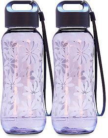 GPET Polycarbonate Yoga bottle Grey  Set of 2