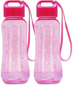 GPET Polycarbonate Yoga bottle Pink  Set of 2