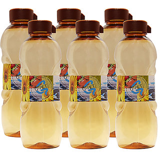 GPET Fridge Water Bottle Daisy 1 Ltr Amber  Set of 6