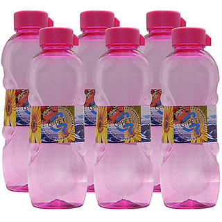 GPET Fridge Water Bottle Daisy 1 Ltr Pink  Set of 6