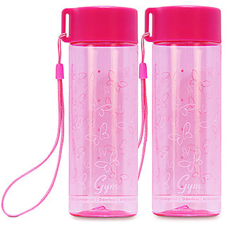 GPET Polycarbonate Gym bottle Pink  Buy 1 Get 1