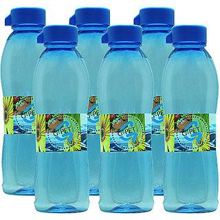 GPET Fridge Water Bottle Ivy 1 Ltr Blue  Set of 6