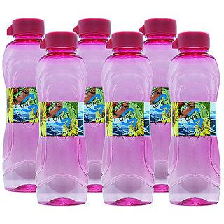 GPET Fridge Water Bottle Lily 1 Ltr Pink  Set of 6