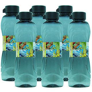 G-PET Fridge Water Bottle Lily 1 Ltr. Grey - Set of 6