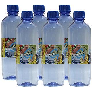 GPET Water Bottle Mint 500 ml Blue  Set of 6