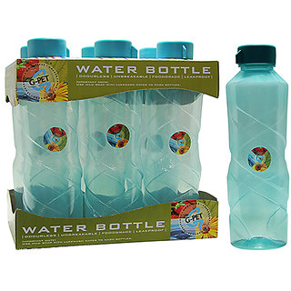 GPET Fridge Water Bottle Poppy 1 Ltr Sea Green  Set of 6