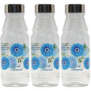GPET Fridge Water Bottles Rose 500 ml Blue with Steel Cap  Set of 3