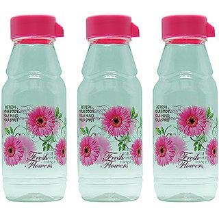 GPET Fridge Water Bottles Rose 500 ml Pink  Set of 3