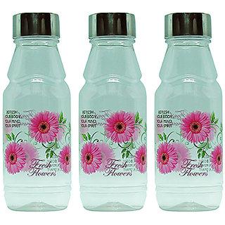 GPET Fridge Water Bottles Rose 500 ml Pink with Steel Cap  Set of 3