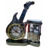 Guitar Table Clock With Pen Stand