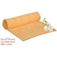Deal Wala 1 Piece Of  Yellow Color Cotton Bath Towel - Hh17