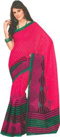 Bhavi Embellished Red Printed Art Silk Saree